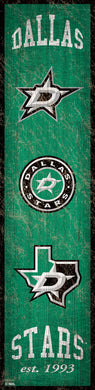 Dallas Stars Heritage Banner Wood Sign - 6