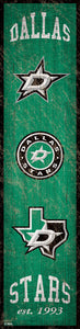 "Dallas Stars Heritage Banner Wood Sign - 6""x24"""