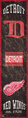 Detroit Red Wings Heritage Banner Wood Sign - 6