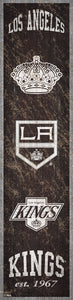 "Los Angeles Kings Heritage Banner Wood Sign - 6""x24"""