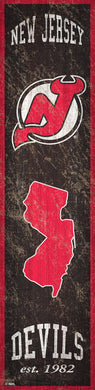 New Jersey Devils Heritage Banner Wood Sign - 6