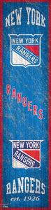 "New York Rangers Heritage Banner Wood Sign - 6""x24"""