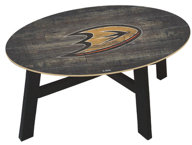 Anaheim Ducks Distressed Wood Coffee Table
