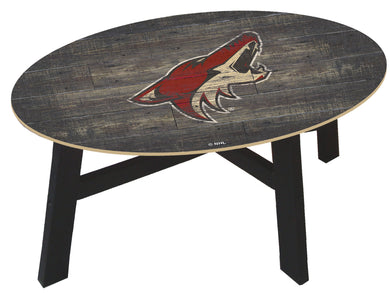 Arizona Coyotes Distressed Wood Coffee Table