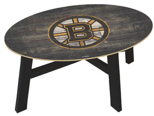 Boston Bruins Distressed Wood Coffee Table