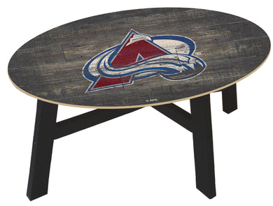 Colorado Avalanche Distressed Wood Coffee Table