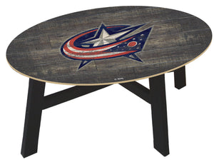 Columbus Blue Jackets Distressed Wood Coffee Table