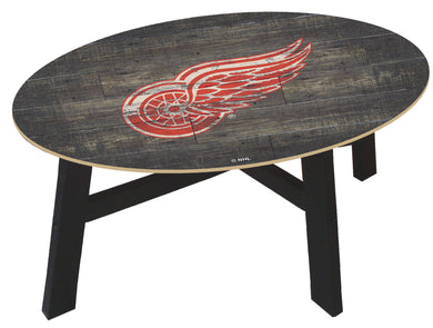 Detroit Red Wings Distressed Wood Coffee Table