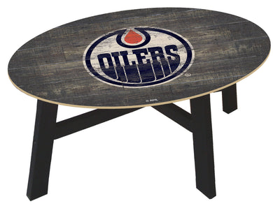 Edmonton Oilers Distressed Wood Coffee Table
