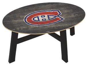Montreal Canadiens Distressed Wood Coffee Table