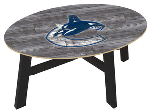 Vancouver Canucks Distressed Wood Coffee Table
