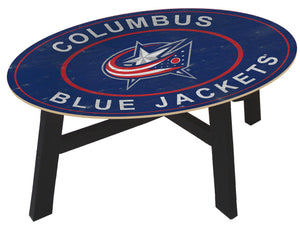 Columbus Blue Jackets Heritage Logo Wood Coffee Table