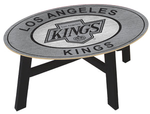 Los Angeles Kings Heritage Logo Wood Coffee Table
