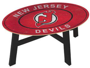 New Jersey Devils Heritage Logo Wood Coffee Table