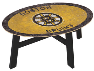 Boston Bruins Team Color Wood Coffee Table