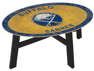 Buffalo Sabres Team Color Wood Coffee Table