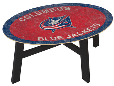 Columbus Blue Jackets Team Color Wood Coffee Table