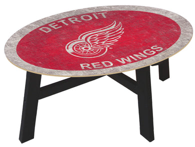 Detroit Red Wings Team Color Wood Coffee Table