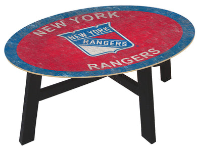New York Rangers Team Color Wood Coffee Table