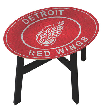 Detroit Red Wings Heritage Logo Wood Side Table