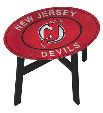 New Jersey Devils Heritage Logo Wood Side Table