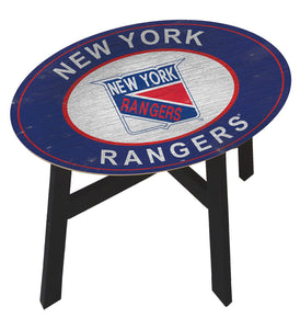 New York Rangers Heritage Logo Wood Side Table