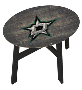 Dallas Stars Distressed Wood Side Table