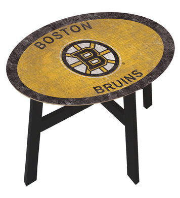 Boston Bruins Team Color Wood Side Table