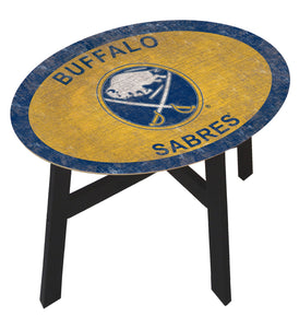 Buffalo Sabres Team Color Wood Side Table