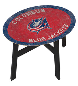 Columbus Blue Jackets Team Color Wood Side Table