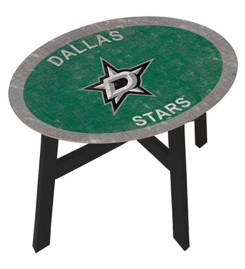 Dallas Stars Team Color Wood Side Table