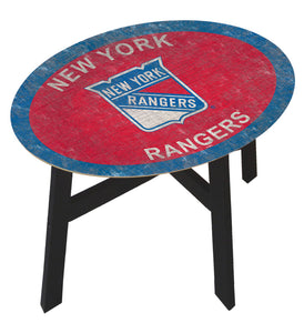 New York Rangers Team Color Wood Side Table
