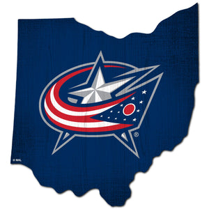 Columbus Blue Jackets Team Color Logo State Sign