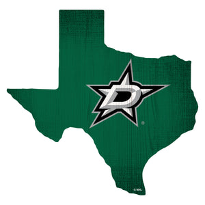 Dallas Stars Team Color Logo State Sign