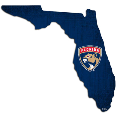 Florida Panthers Team Color Logo State Sign