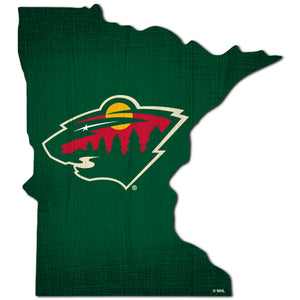 Minnesota Wild Team Color Logo State Sign