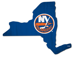 New York Islanders Team Color Logo State Sign