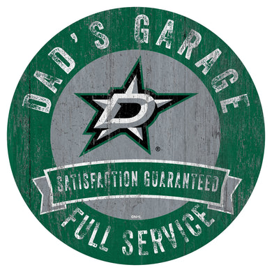 Dallas Stars Dad's Garage Wood Sign
