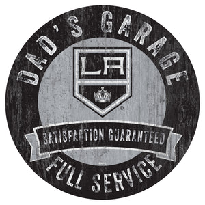 Los Angeles Kings Dad's Garage Wood Sign