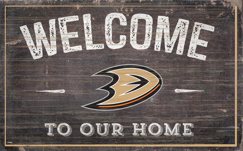 Anaheim Ducks Welcome To Our Home Wood Sign