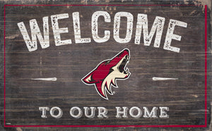 Arizona Coyotes Welcome To Our Home Wood Sign