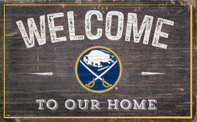 Buffalo Sabres Welcome To Our Home Wood Sign