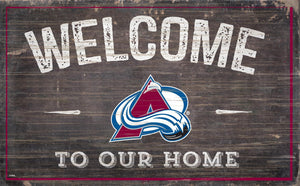 Colorado Avalanche Welcome To Our Home Wood Sign