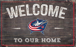 Columbus Blue Jackets Welcome To Our Home Wood Sign