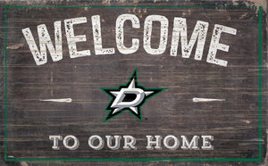 Dallas Stars Welcome To Our Home Wood Sign