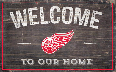 Detroit Red Wings Welcome To Our Home Wood Sign