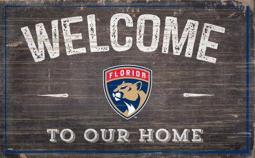 Florida Panthers Welcome To Our Home Wood Sign