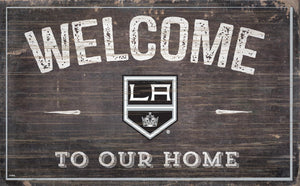 Los Angeles Kings Welcome To Our Home Wood Sign