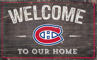 Montreal Canadiens Welcome To Our Home Wood Sign
