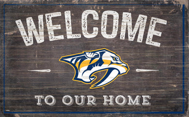 Nashville Predators Welcome To Our Home Wood Sign